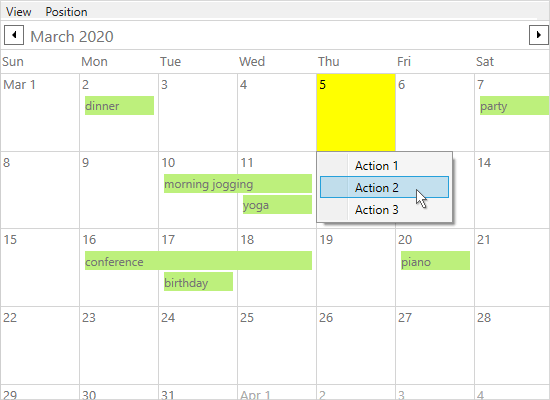 MindFusion.Scheduling for WPF について