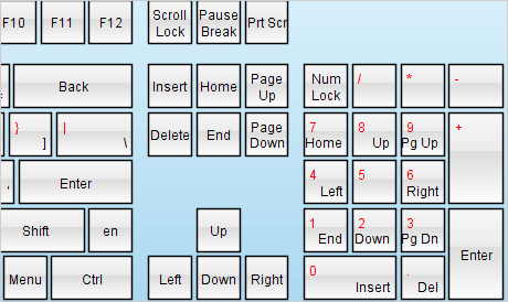 MindFusion.Virtual Keyboard for Java Swing(英語版) のスクリーンショット