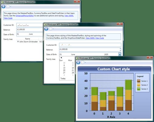 Screenshot of Mindscape WPF Elements
