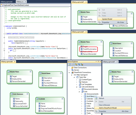 Screenshot of Mindscape Visual Tools for SharePoint