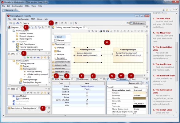 Screenshot of Modeliosoft Java Solution