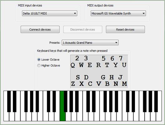 Screenshot of Active MIDI DJ Console for .NET