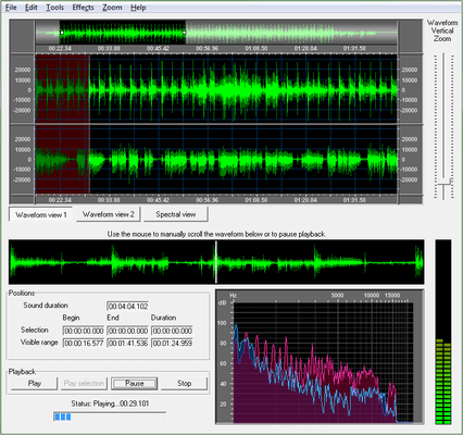 Screenshot of Active Sound Editor