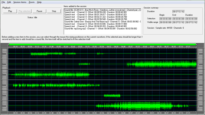 Screenshot of Audio Sound Editor for .NET