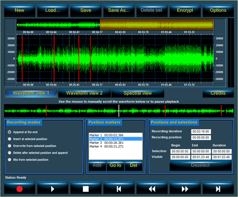 Screenshot of Audio Sound Recorder API for .NET