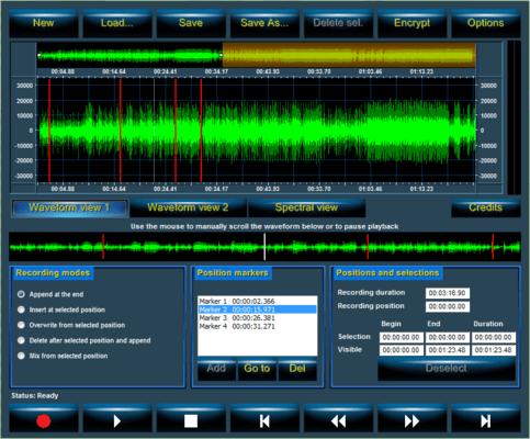 Screenshot of Audio Sound Studio API for .NET