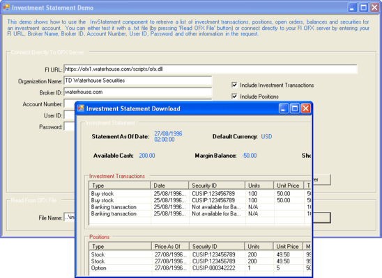 E-Banking Integrator ActiveX/COM Edition 스크린샷