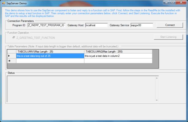 Screenshot of ERP (SAP) Integrator Delphi Edition
