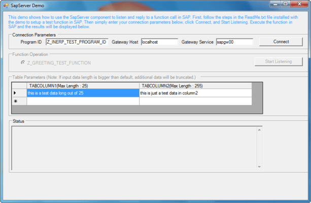 Screenshot of ERP (SAP) Integrator Java Edition