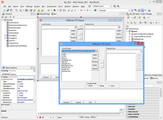 Captura de pantalla de IPWorks Delphi Edition