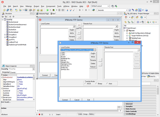 IPWorks Delphi Edition (英語版) のスクリーンショット