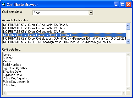 Screenshot of IP*Works! SSL ActiveX COM Edition