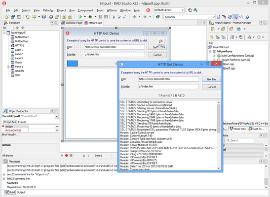 Screenshot of IP*Works! SSL C++ Builder Edition