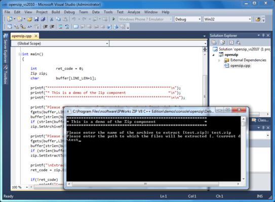 Screenshot of IP*Works! Zip ActiveX/COM Edition