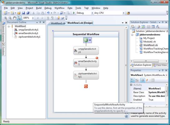 Screenshot of /n software Workflow Activities