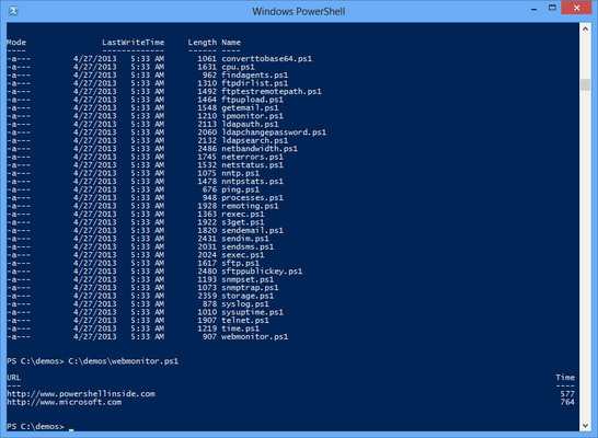 Captura de tela do NetCmdlets