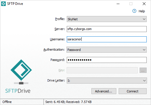 Screenshot of SFTP Drive