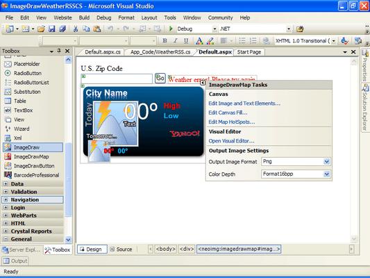 Screenshot of Neodynamic ImageDraw for ASP.NET
