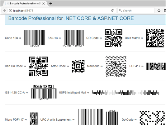 Capture d'écran de Neodynamic Barcode Professional for .NET Standard