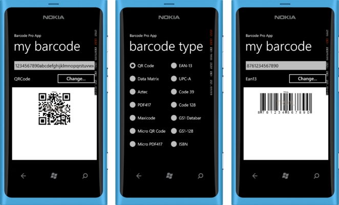 Neodynamic Barcode Professional for Windows Phone - Standard のスクリーンショット