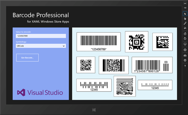 Neodynamic Barcode Professional for XAML WinRT(英語版) のスクリーンショット