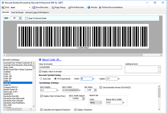 About Neodynamic Barcode Professional SDK for  NET