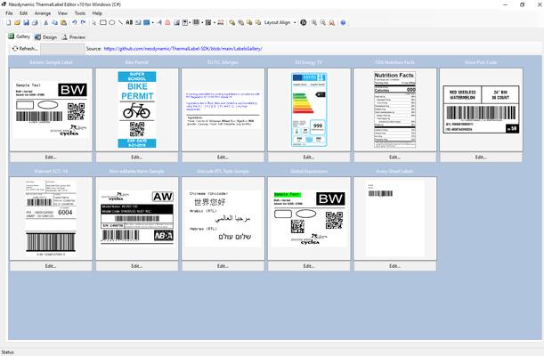Screenshot of Neodynamic ThermalLabel Visual Editor Add-on for .NET