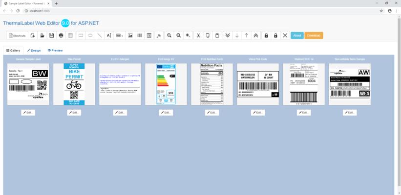 Neodynamic Thermallabel Web Editor Add On For Asp Net