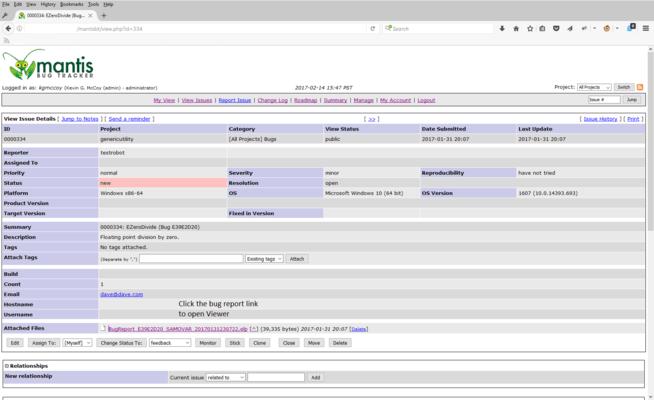Screenshot of EurekaLog