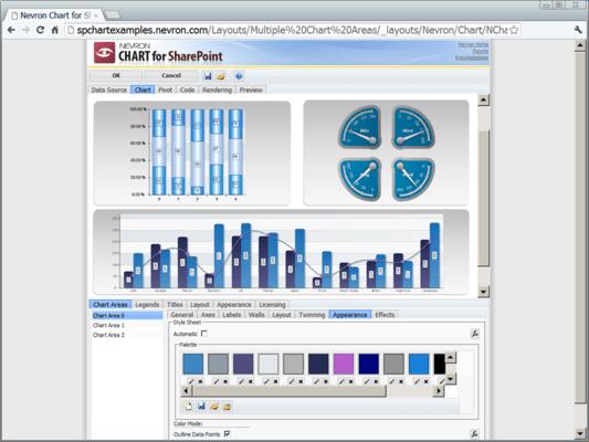 Schermata di Nevron Vision for SharePoint