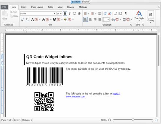 NOV Barcode for .NET(英語版) のスクリーンショット