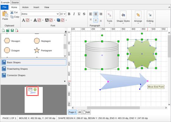NOV Diagram for .NET(英語版) のスクリーンショット