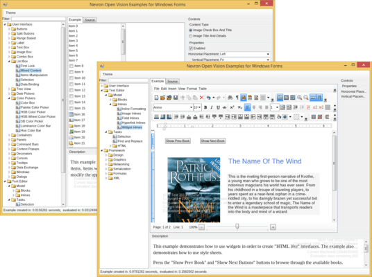 Screenshot of NOV Rich Text Editor