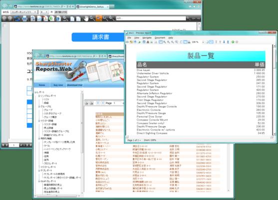 SharpShooter Reports JP.Professional(日本語版) のスクリーンショット