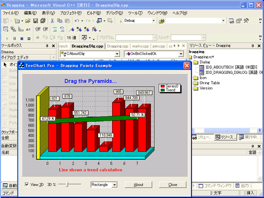 TeeChart Pro ActiveX(日本語版) のスクリーンショット