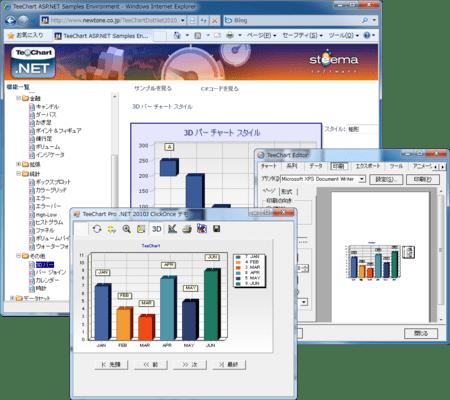 TeeChart Pro .NET(日本語版) のスクリーンショット