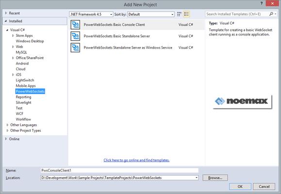 Screenshot of PowerWebSockets