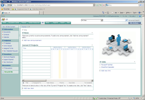 Screenshot of Office Talk IT Templates for SharePoint