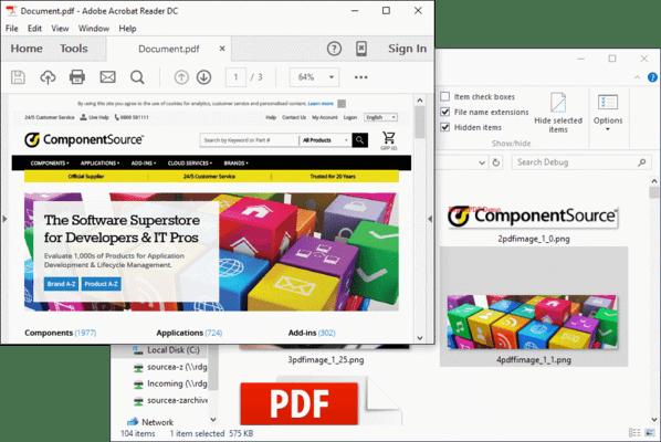 Screenshot of ExpertPDF Pdf Images Extractor