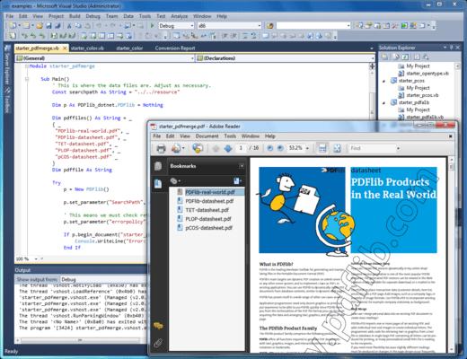 PDFlib 的螢幕截圖
