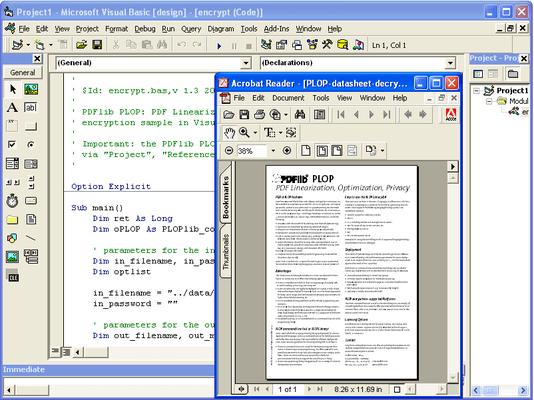 Screenshot of PDFlib PLOP DS