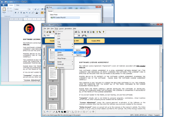 Screenshot of PDF Creator Plus
