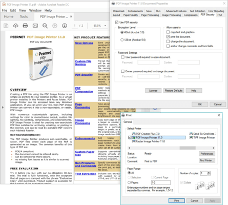 Screenshot of PDF Image Printer