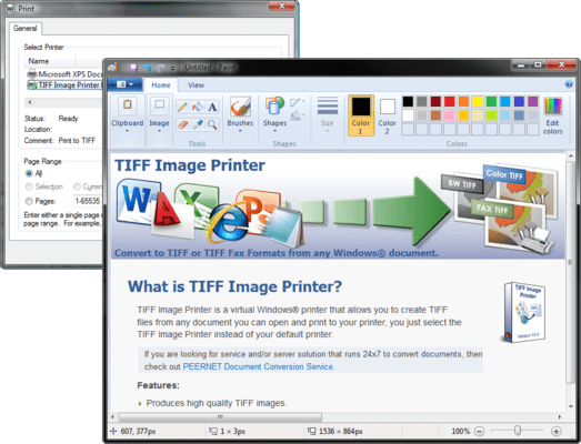 Captura de pantalla de TIFF Image Printer