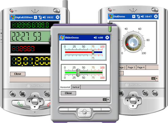 Screenshot of Instrumentation Widgets for PDA Professional Edition