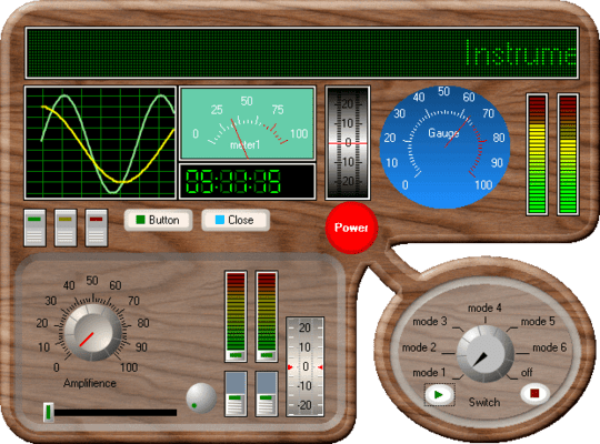 Screenshot of Instrumentation Widgets Windows Forms Edition
