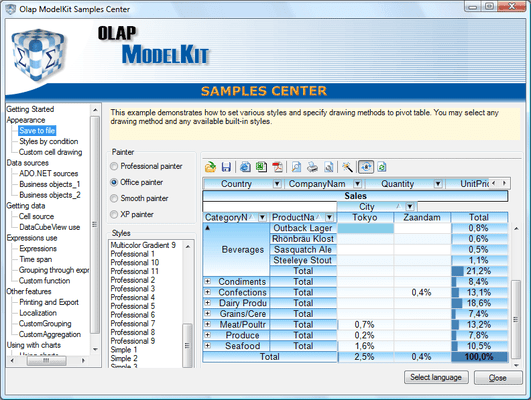OLAP ModelKit Professional Edition のスクリーンショット
