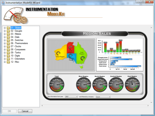 Screenshot of SharpShooter Dashboards.Win