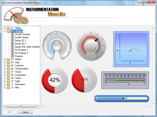 Screenshot of SharpShooter Gauges.Enterprise