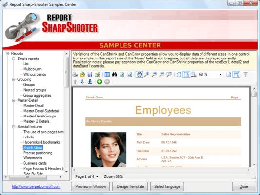 SharpShooter Reports.Enterprise のスクリーンショット